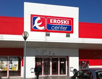 Fabricacion de rotulos luminosos para supermercados eroski center - Eroski iluminacion ...