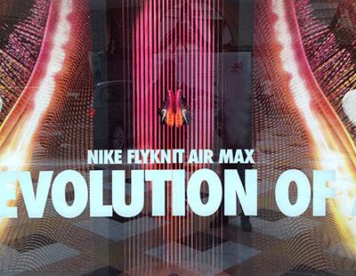 official photos c14f3 d69d5 Impactante decoración con cuerdas y pintura para los escaparates Nike.